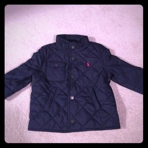 Polo fall jacket 24 months. Navy blue